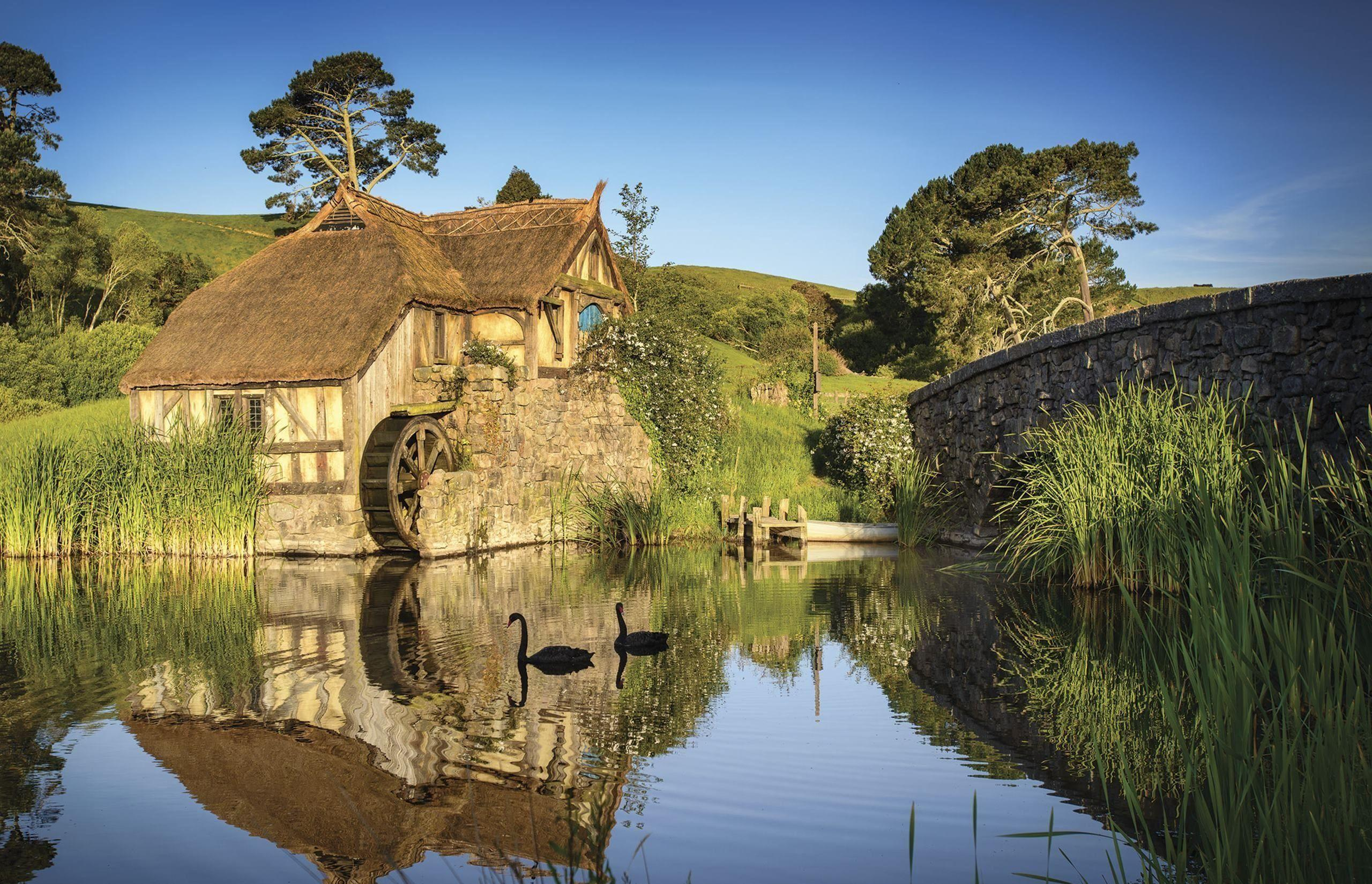 Download wallpapers fabulous park, hobbiton, new zealand for desktop