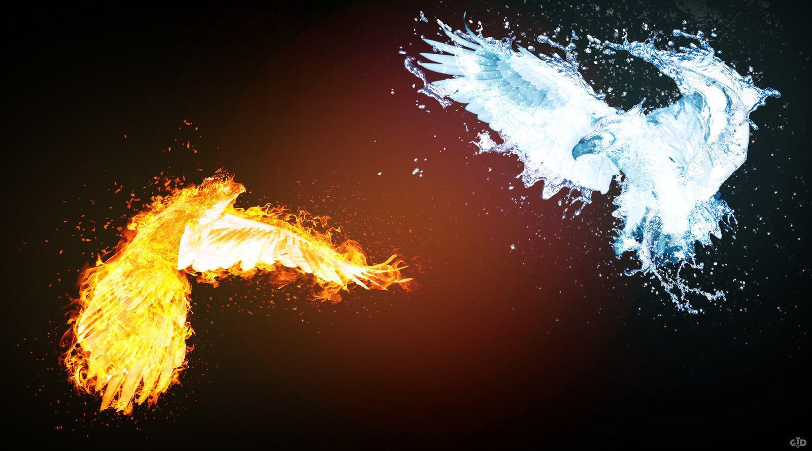 Fire Vs Water Wallpaper | Free Wallpaper