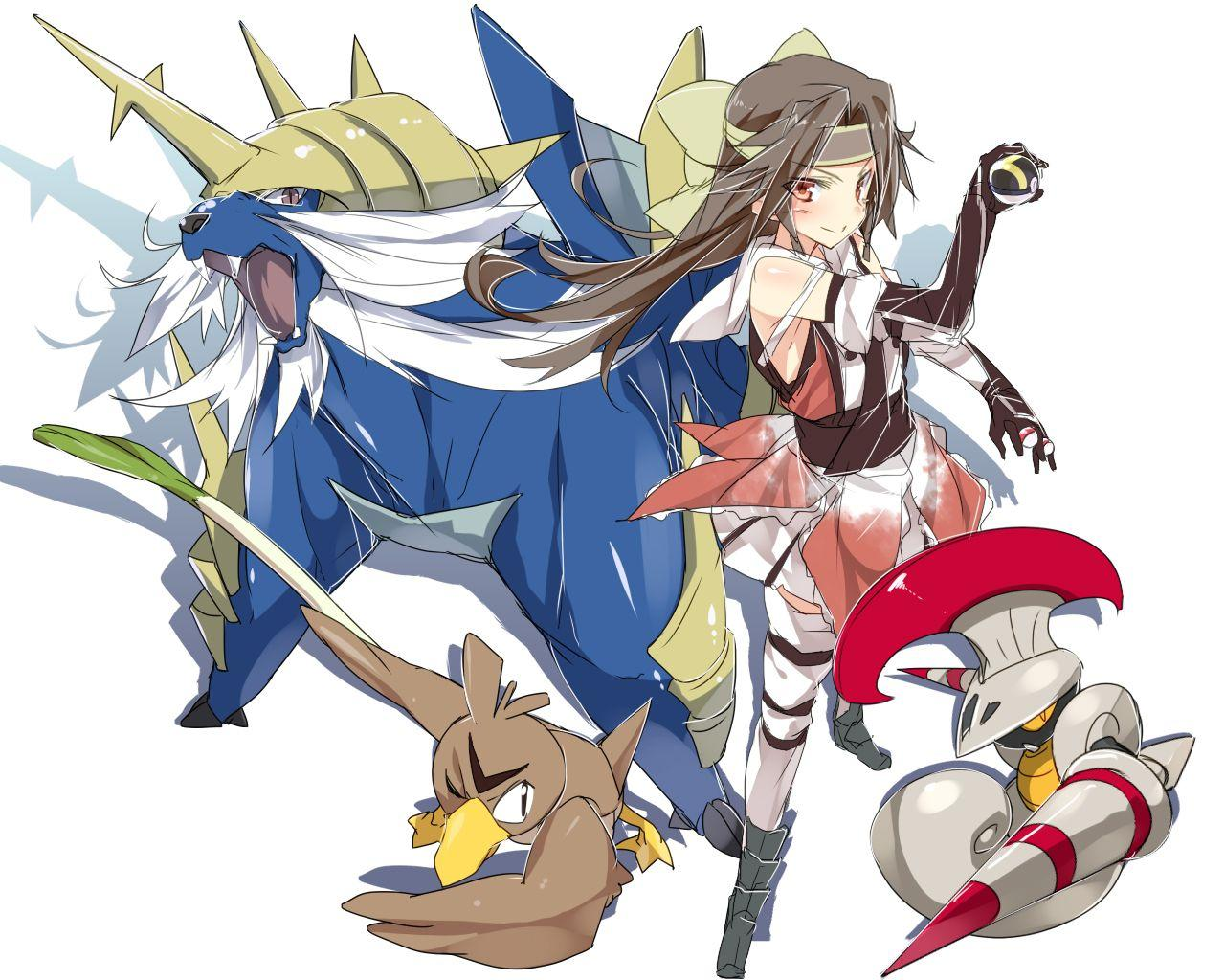 escavalier, farfetch'd, jintsuu, and samurott