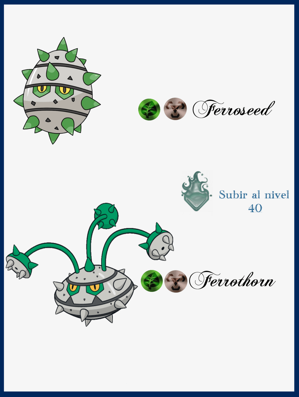 Images of Ferroseed Evolution Chart - #SpaceHero