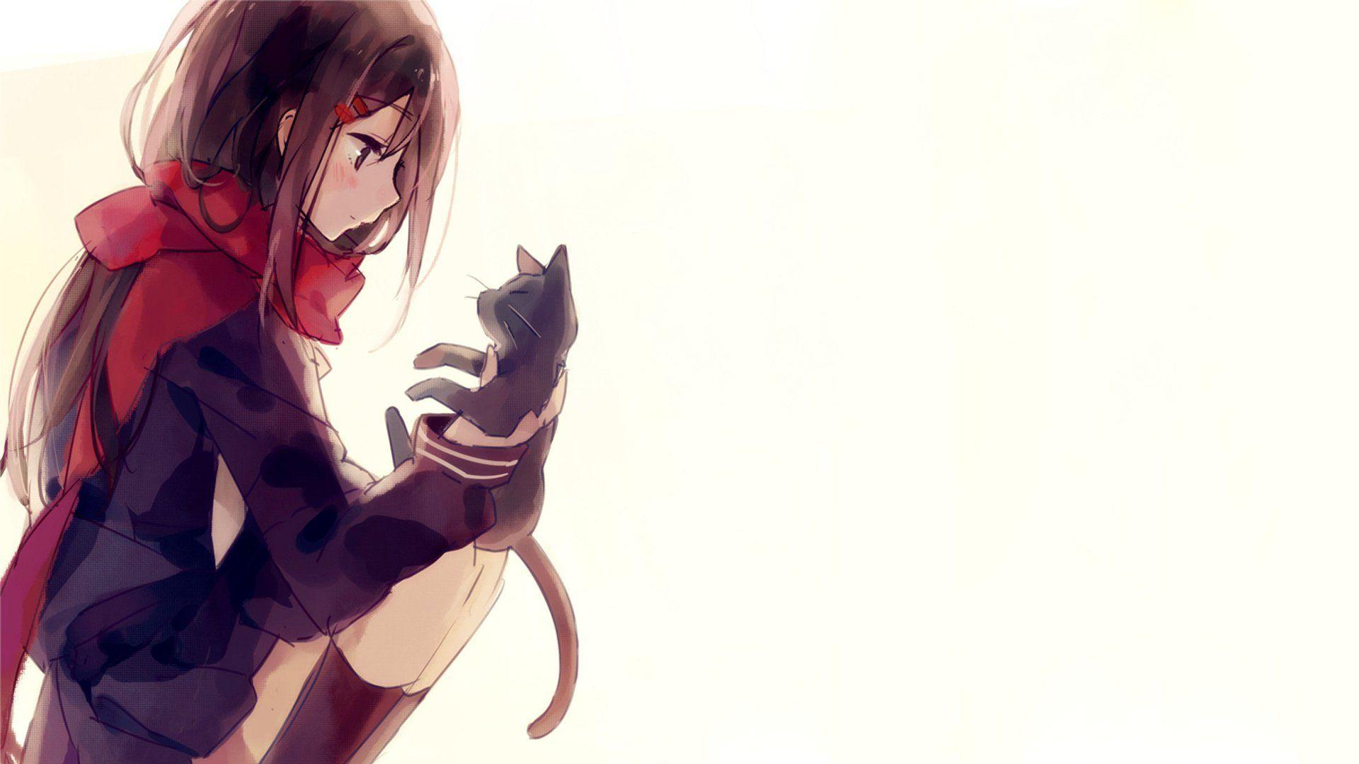 Cat Anime Wallpapers Wallpaper Cave