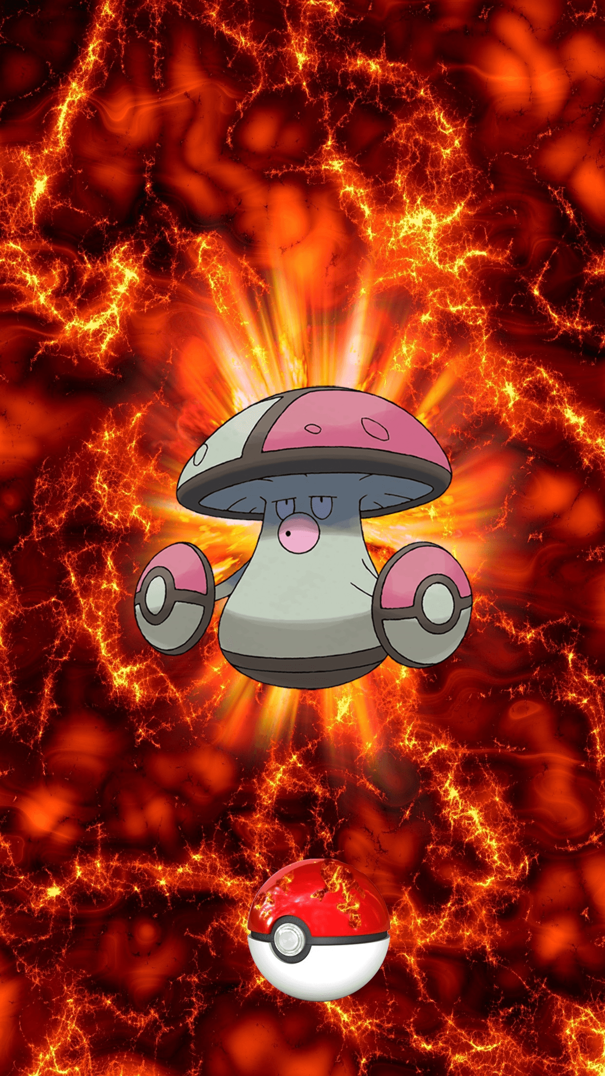 591 Fire Pokeball Amoonguss Morobareru 102 Foongus | Wallpaper
