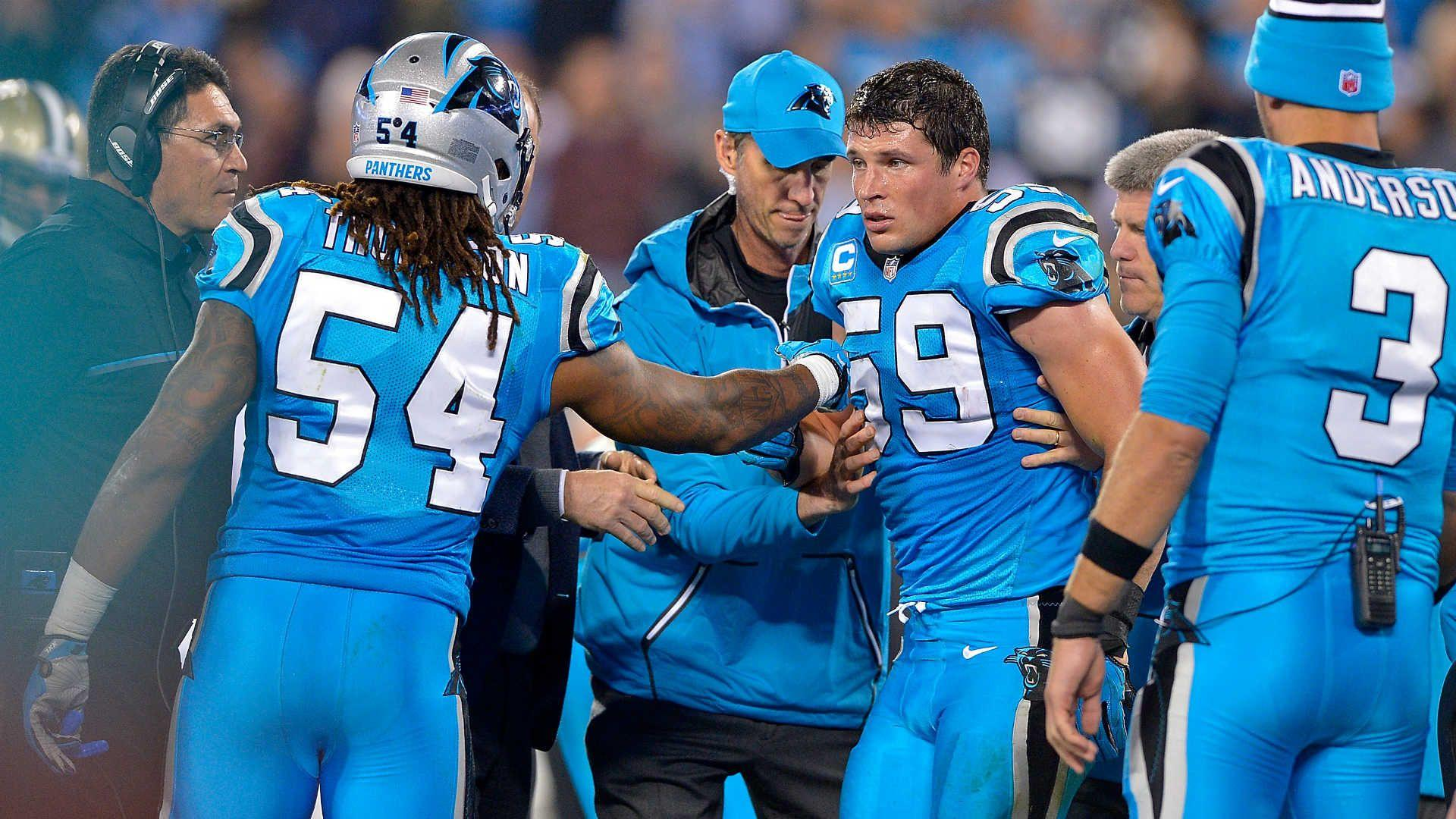 Panthers' Luke Kuechly dodged concussion vs. Eagles, report says