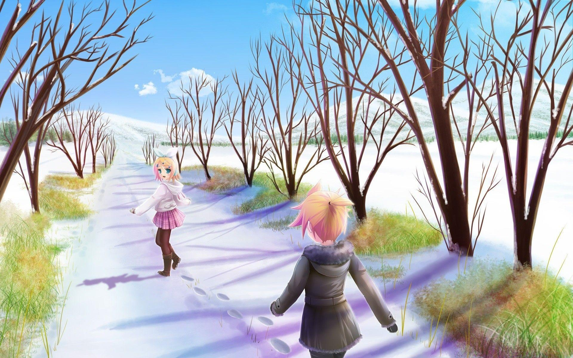 Anime Winter Scene Android Wallpapers For Free
