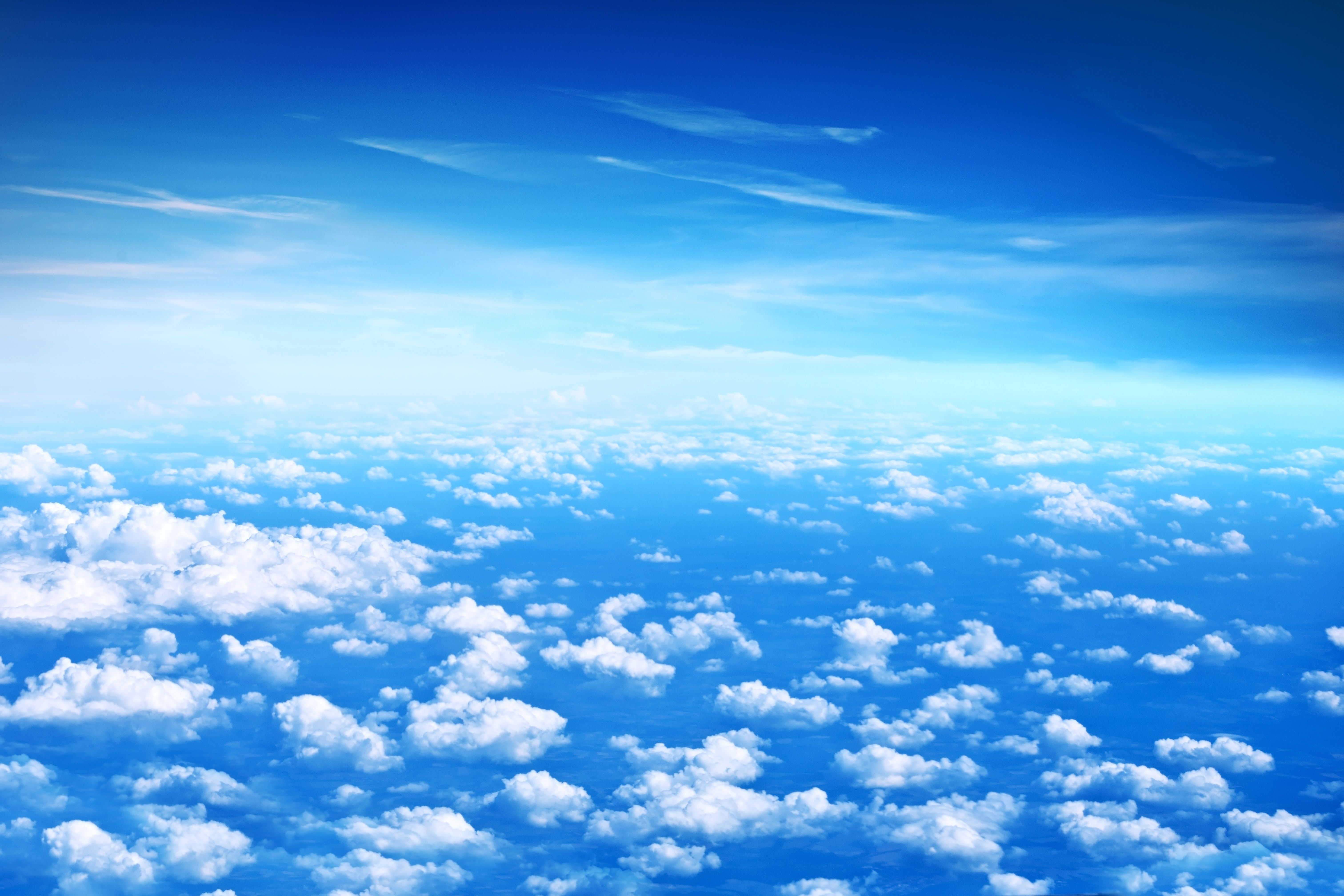 Wallpapers Clouds, Blue sky, HD, 5K, Nature,