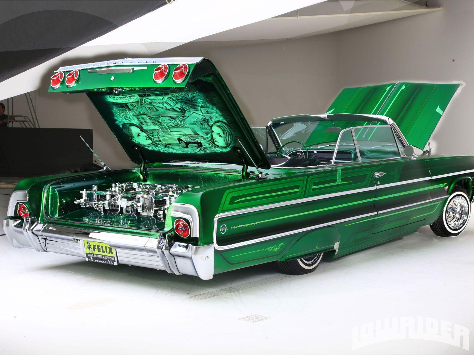 Pix For > 1964 Chevy Impala Lowrider Wallpaper | lowrider love ...