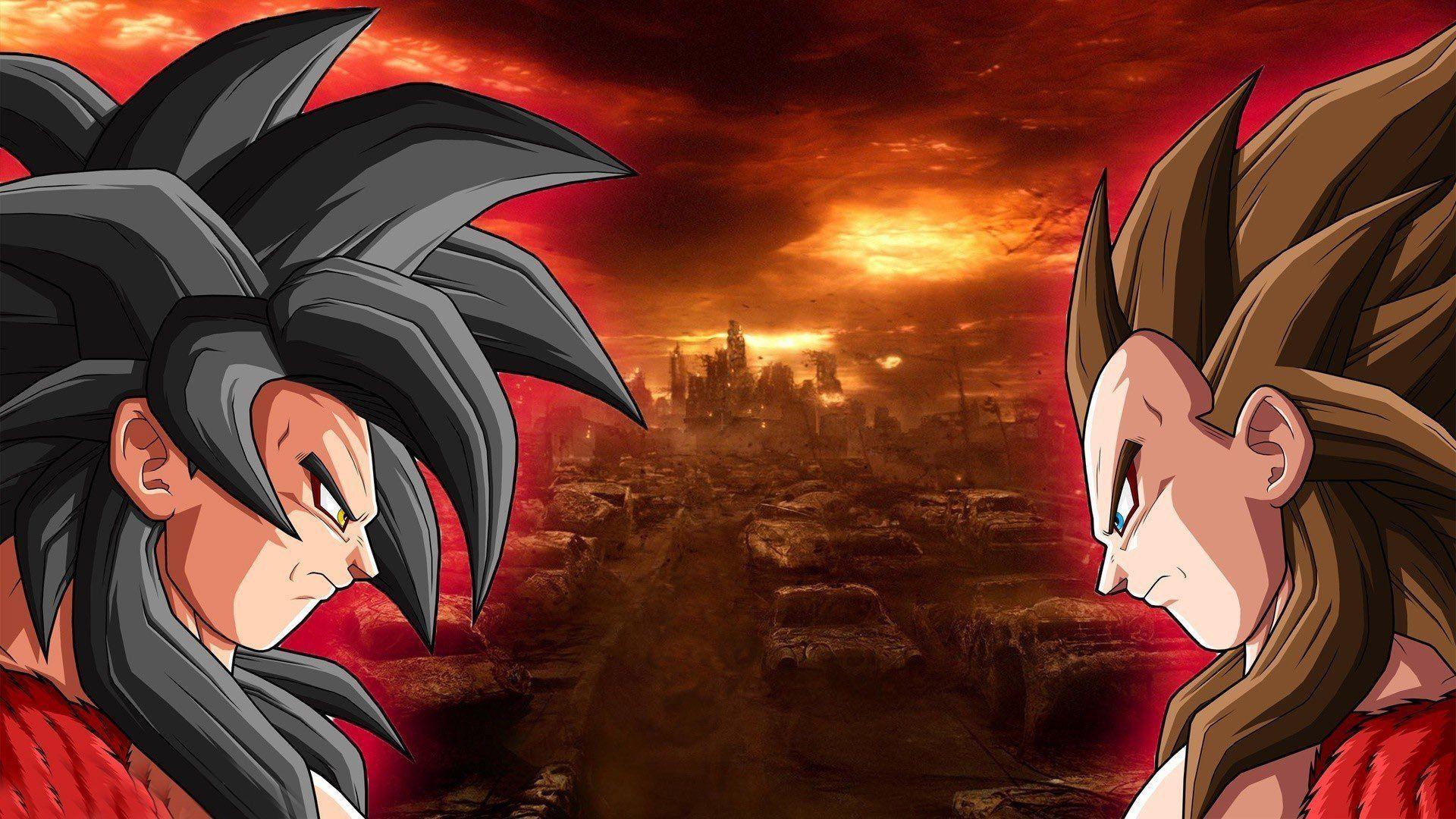 Super Saiyan 4 Goku And Vegeta Wallpapers Wallpaper Cave
