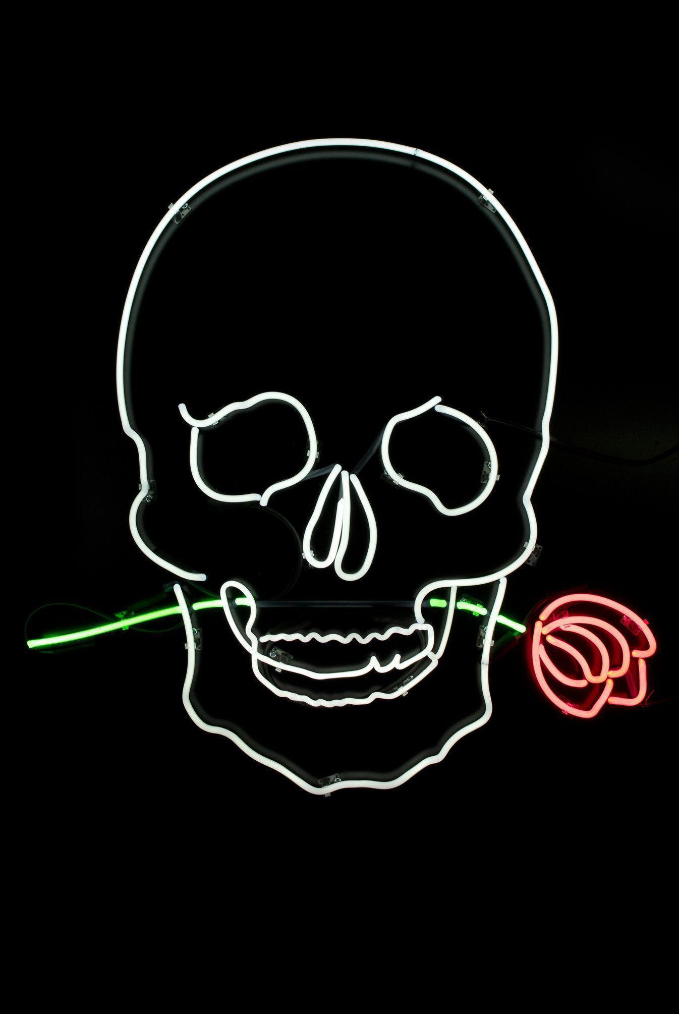 Neon Skull Wallpapers Wallpaper Cave