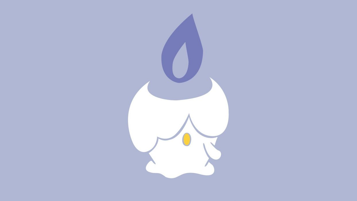 Pokemon minimalistic fire purple Ghost Litwick wallpaper | 1920x1080 ...