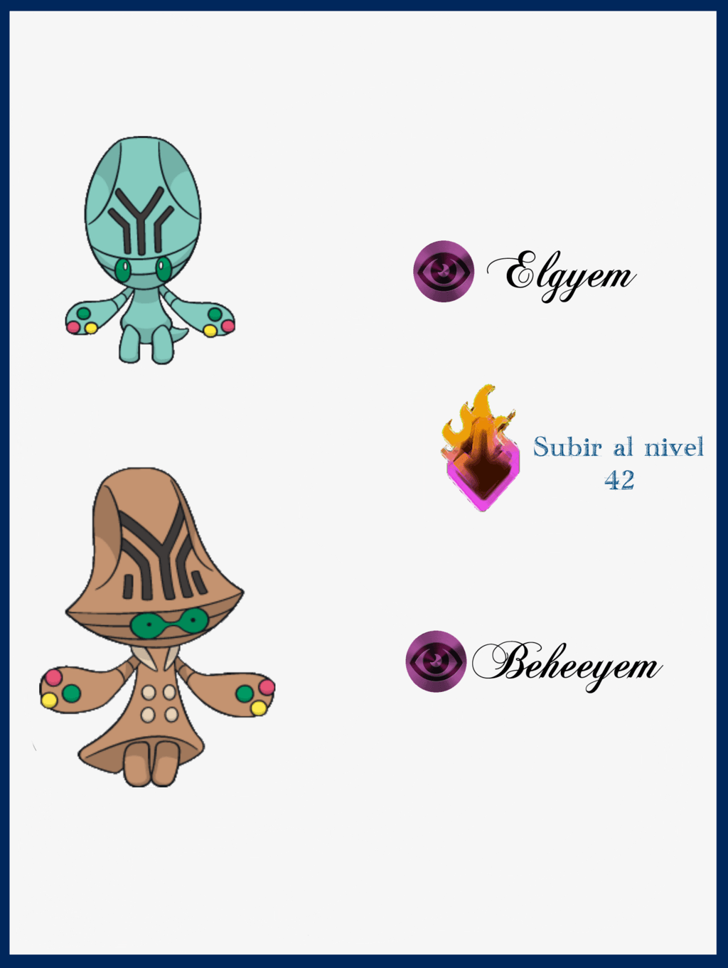 Images of Elgyem Evolution Chart - #SpaceHero