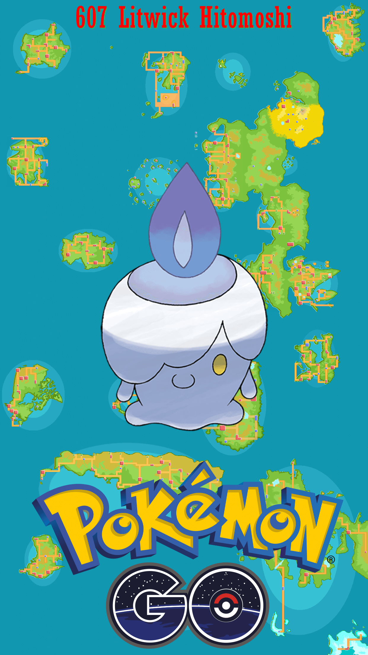 607 Street Map Litwick Hitomoshi | Wallpaper