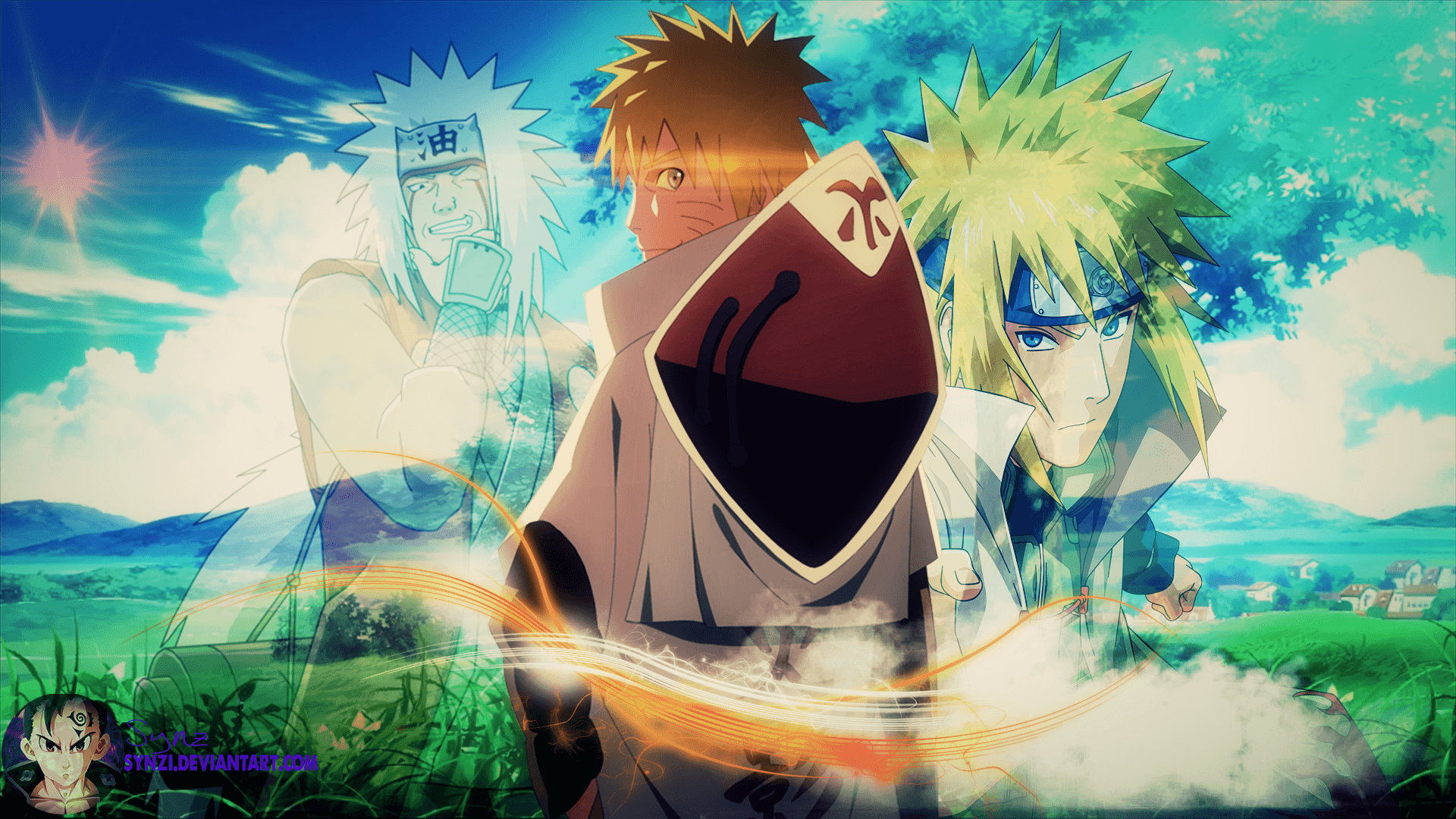 Naruto jiraiya wallpapers wallpaper cave - Minato background ...