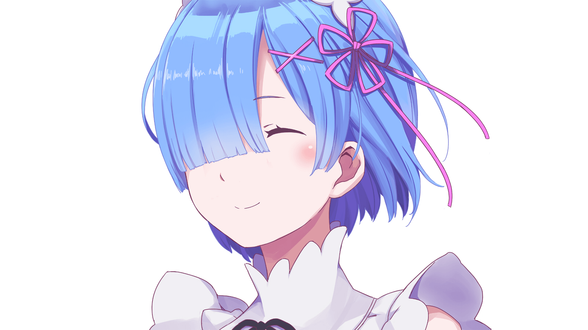 Wallpapers Re:zero, Rem, Smile, Face Portrait