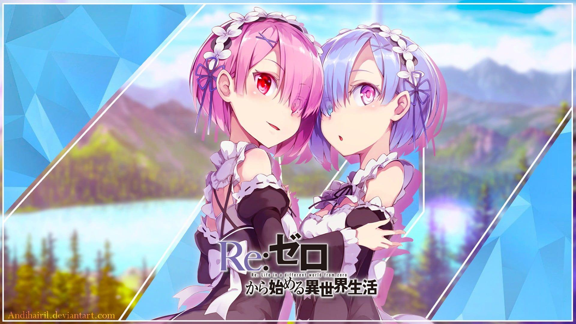 Ram and Rem Re :Zero characters digital wallpapers HD wallpapers