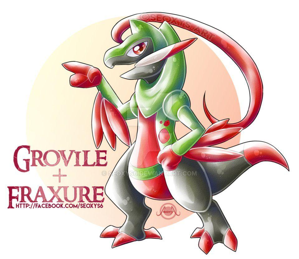 Grovile X Fraxure by Seoxys6 on DeviantArt