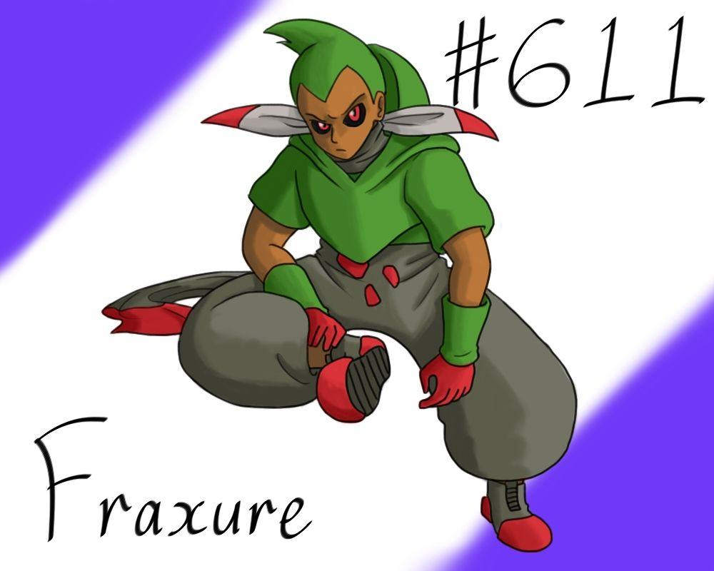 Pokemon Gijinka Project 611 Fraxure by JinchuurikiHunter on DeviantArt