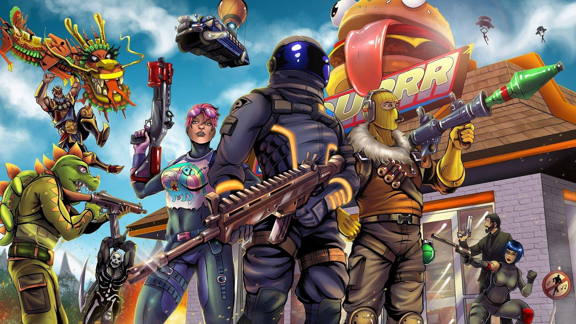 1920x1080 HD Wallpaper of Fortnite Battle Royale Video Game Art Dark ...