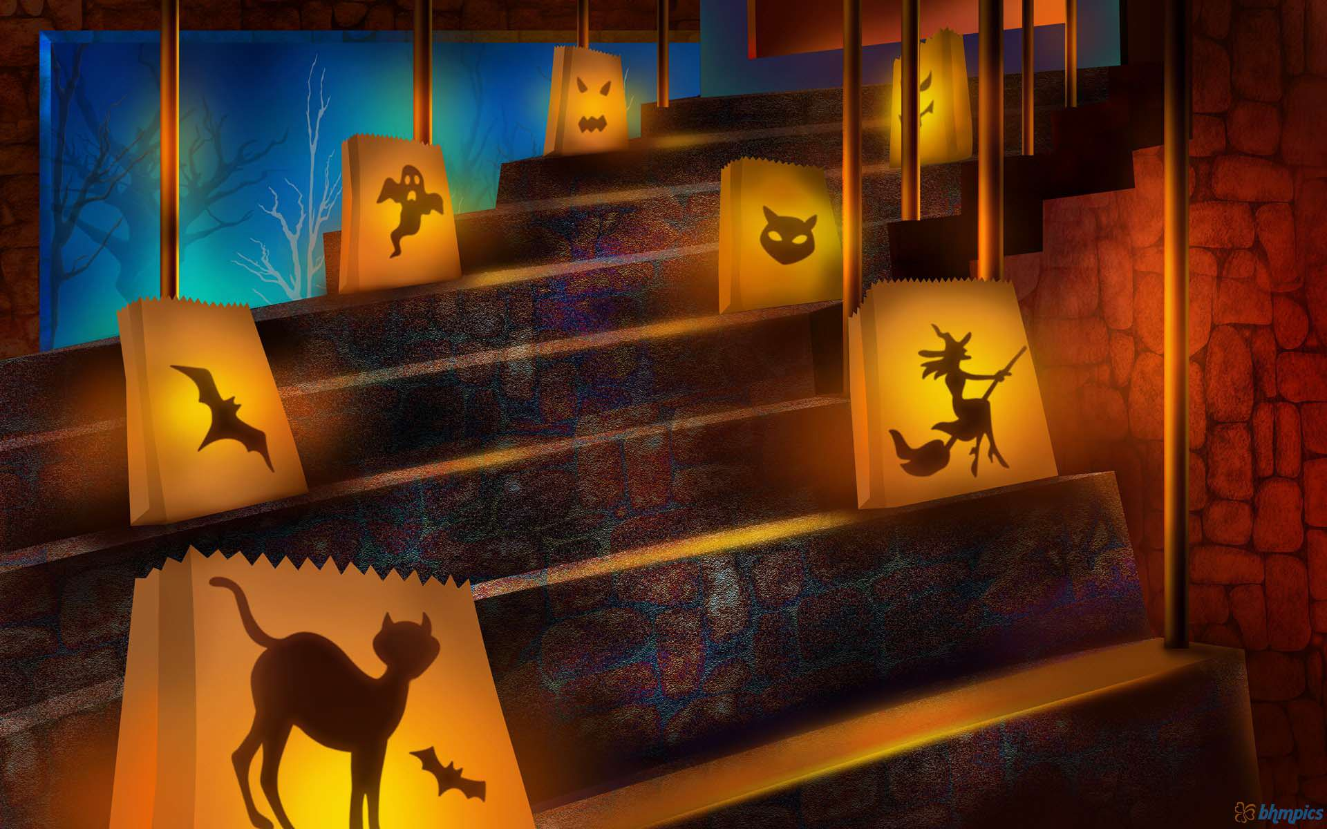 Holidays Halloween Decoration Wallpaper 1920x1200 - Cool PC Wallpapers