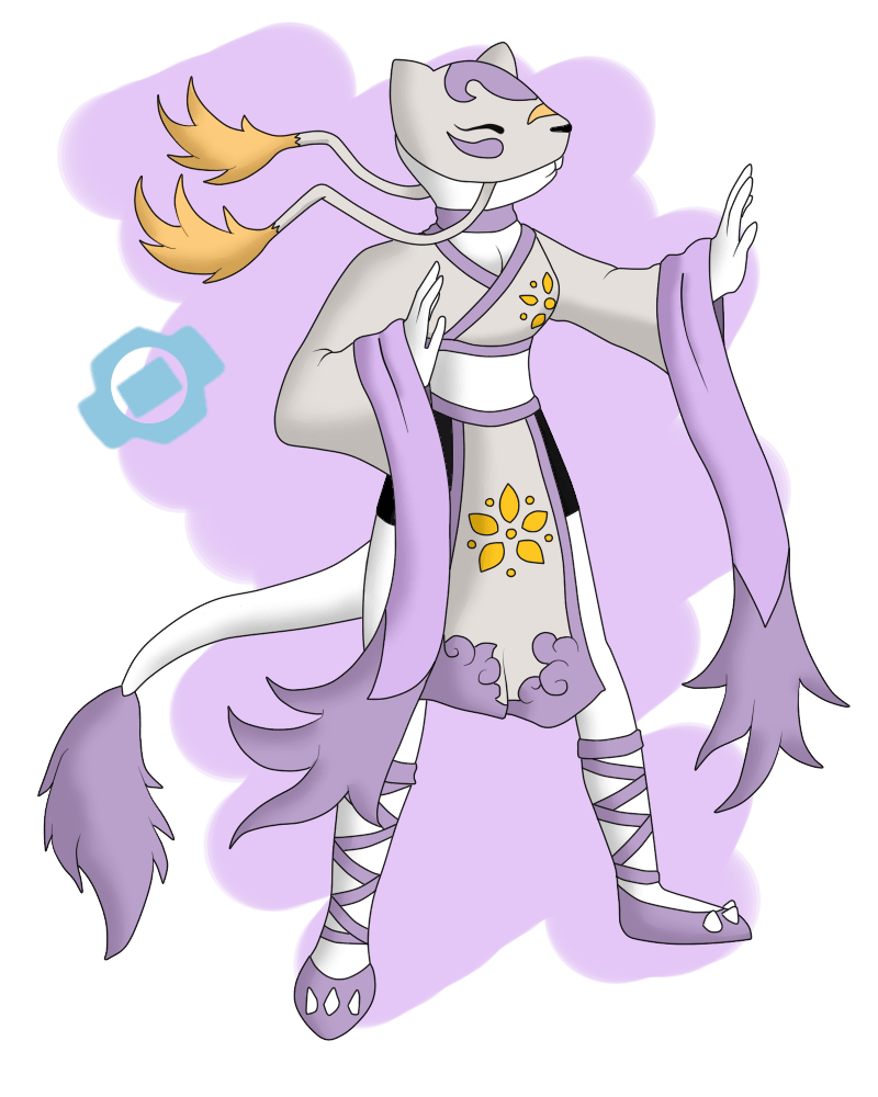 If Mienshao Were a Digimon... by HaruByakko