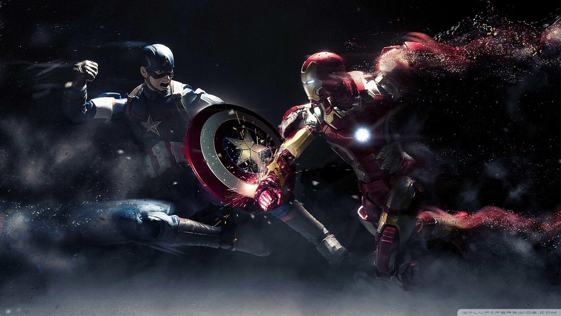 Iron Man Desktop Wallpaper Captain America Vs Iron Man ❤ 4K Hd ..