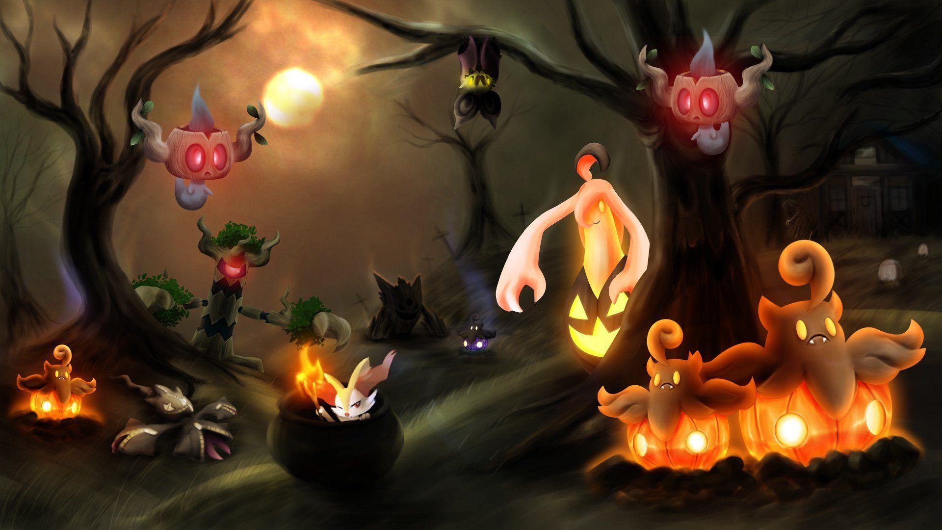 Pokemon Pumpkaboo Halloween Wallpaper | Images Wallpapers ...