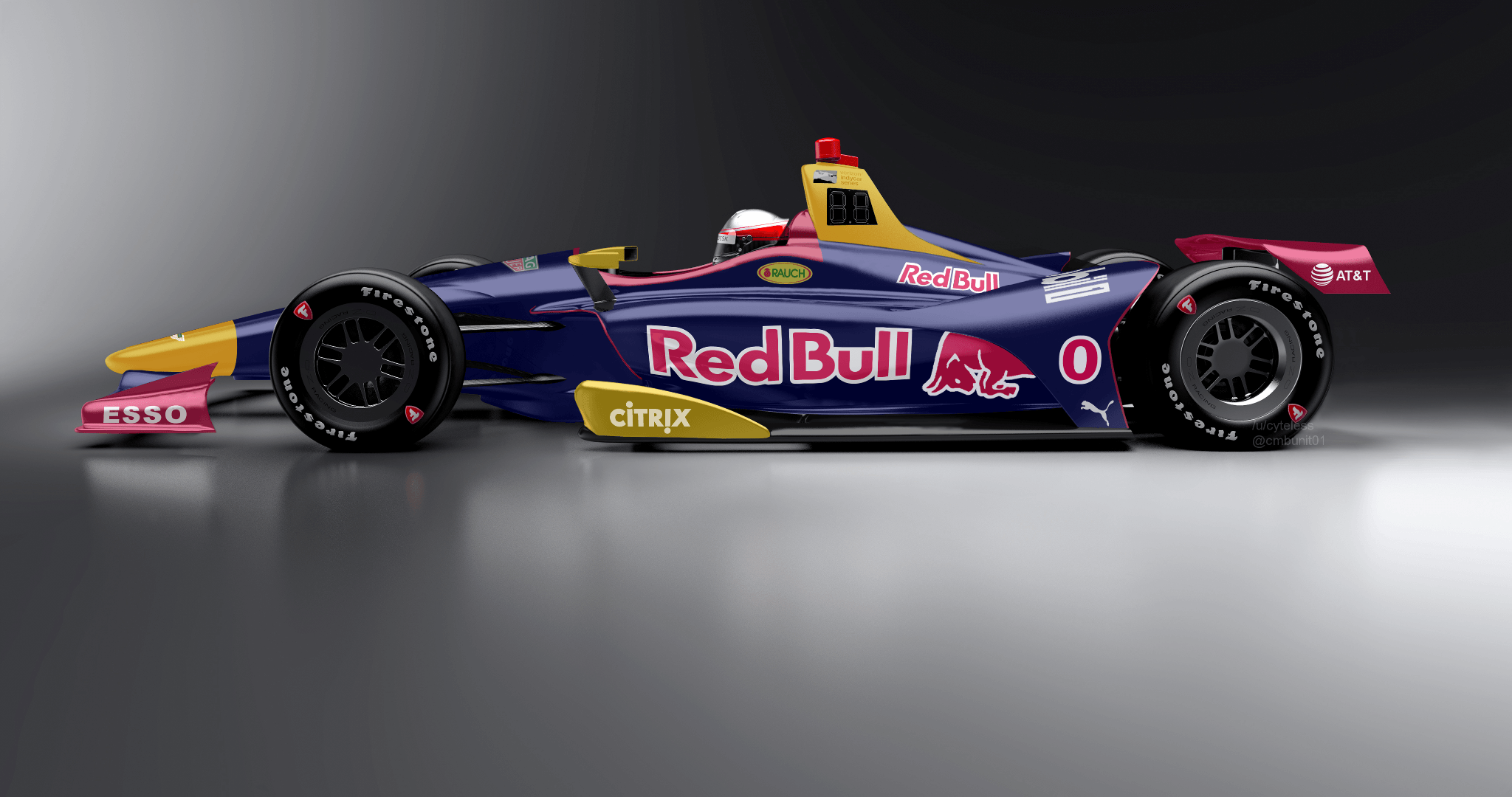 Concept of a Red Bull entry with the 2018 IndyCar : INDYCAR