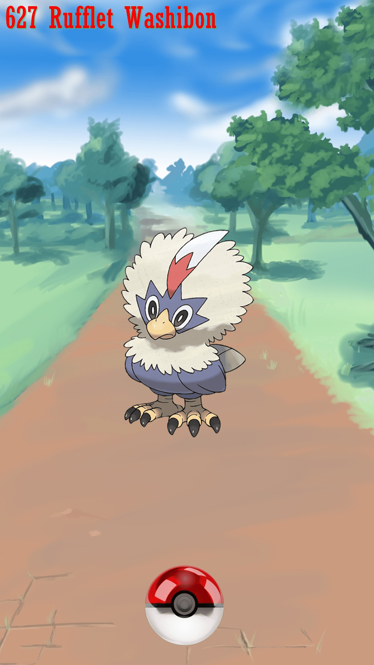 627 Street Pokeball Rufflet Washibon | Wallpaper