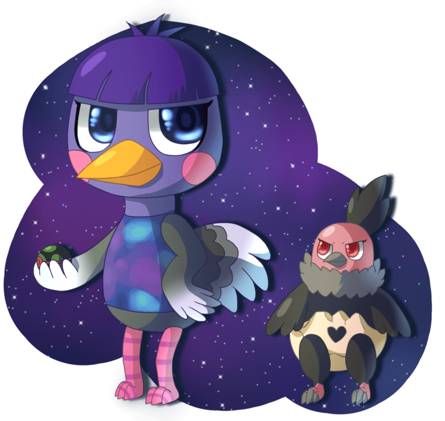 Pokemon Crossing - Queenie and Vullaby by SnaggleClaws on DeviantArt