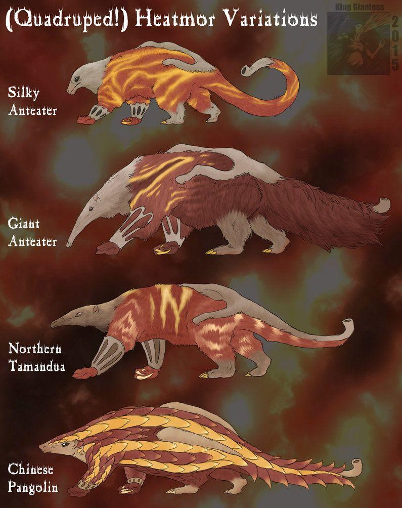 Heatmor Variations by KingGiantess on DeviantArt