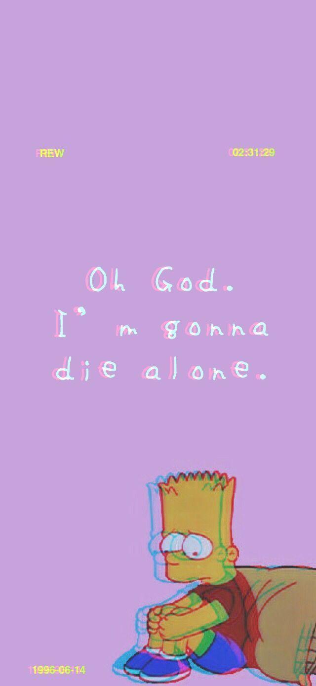 Sad Bart (iPhone X Wallpaper)#wallpaper | The Swatch Shop .