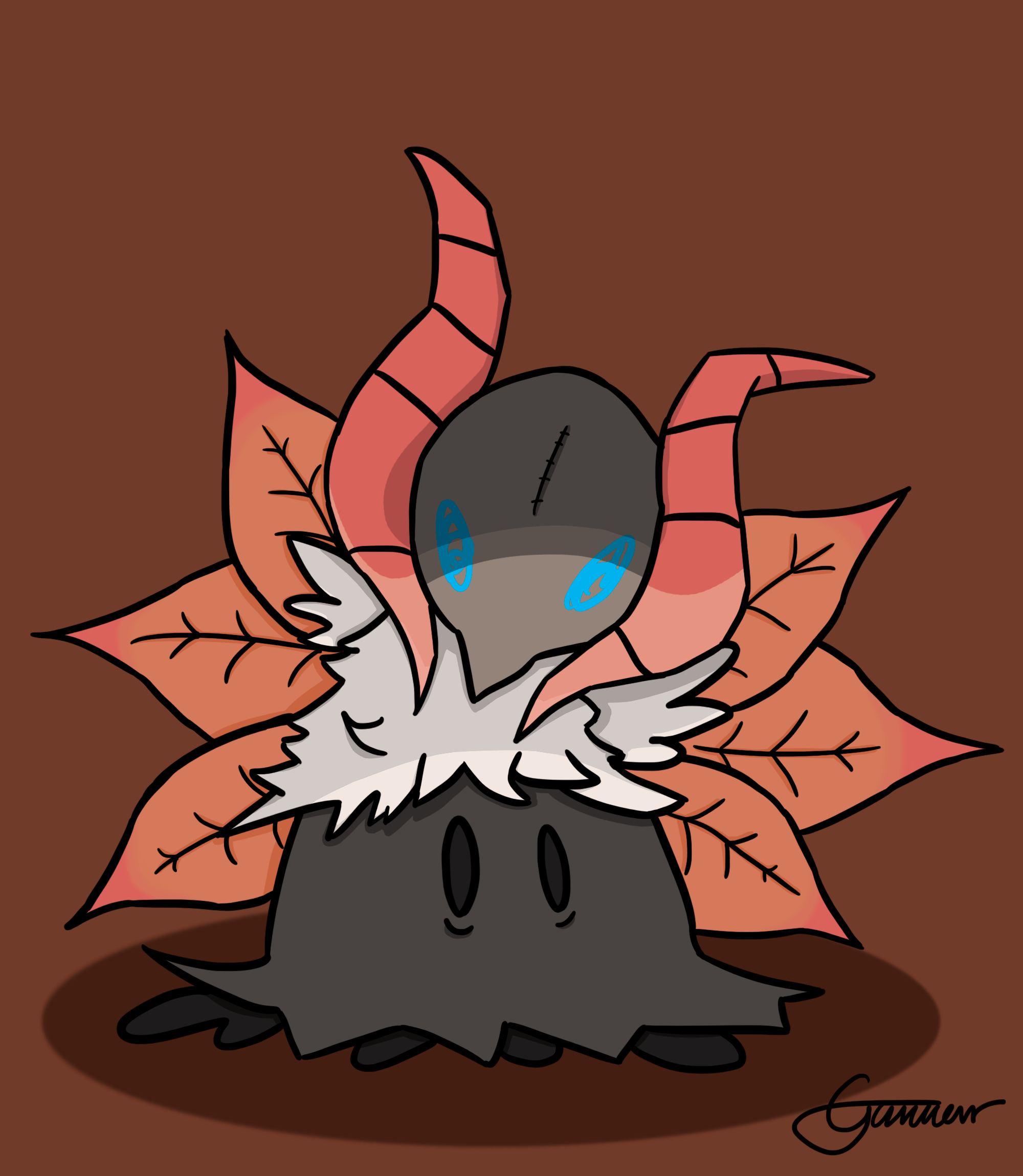 Made a Volcarona-Mimikyu for my brother. Thought you guys would ...