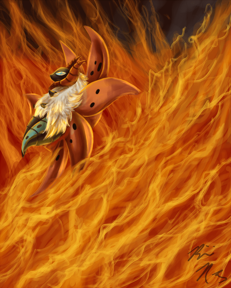 Volcarona used FIERY DANCE: re by PyroFishies on DeviantArt