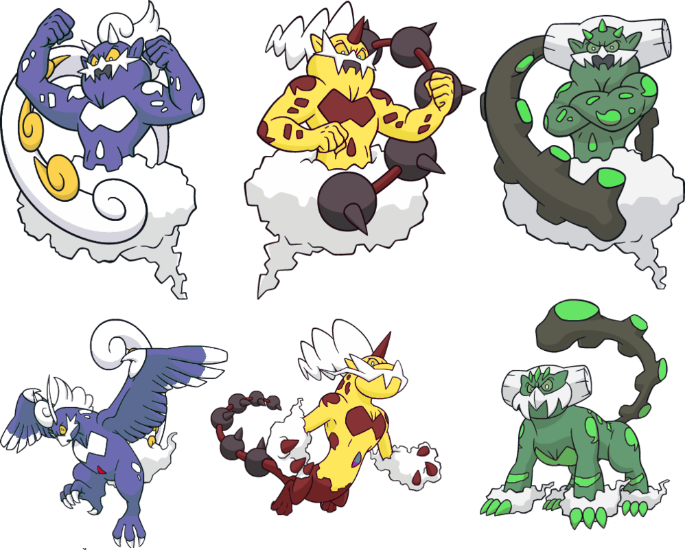 Alternate Shinies: Tornadus, Thundurus, Landorus by high