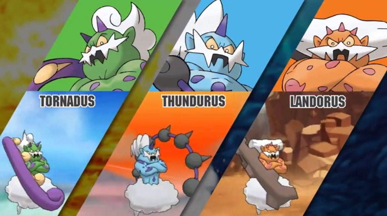 Tornadus, Thundurus, and Landorus will catchable in Pokemon Omega