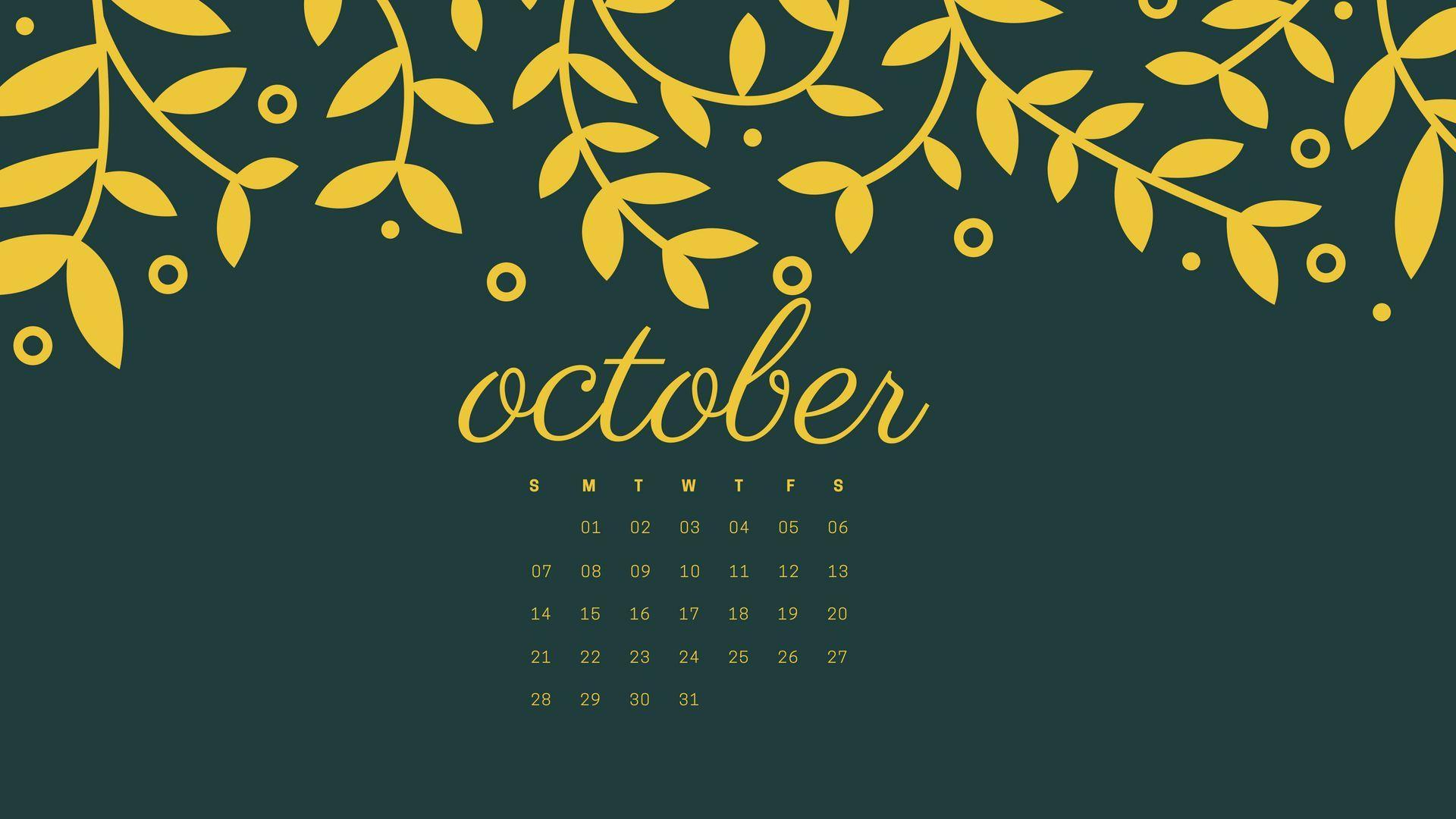 October 2018 Calendar Wallpapers