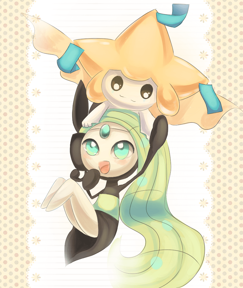 Meloetta and Jirachi by Joltik92.deviantart.com on @deviantART | I ...