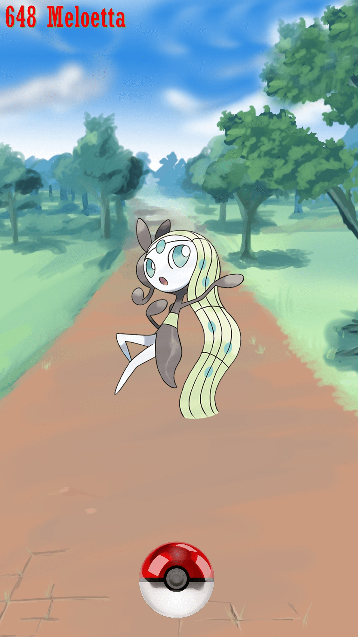 648 Street Pokeball Meloetta | Wallpaper