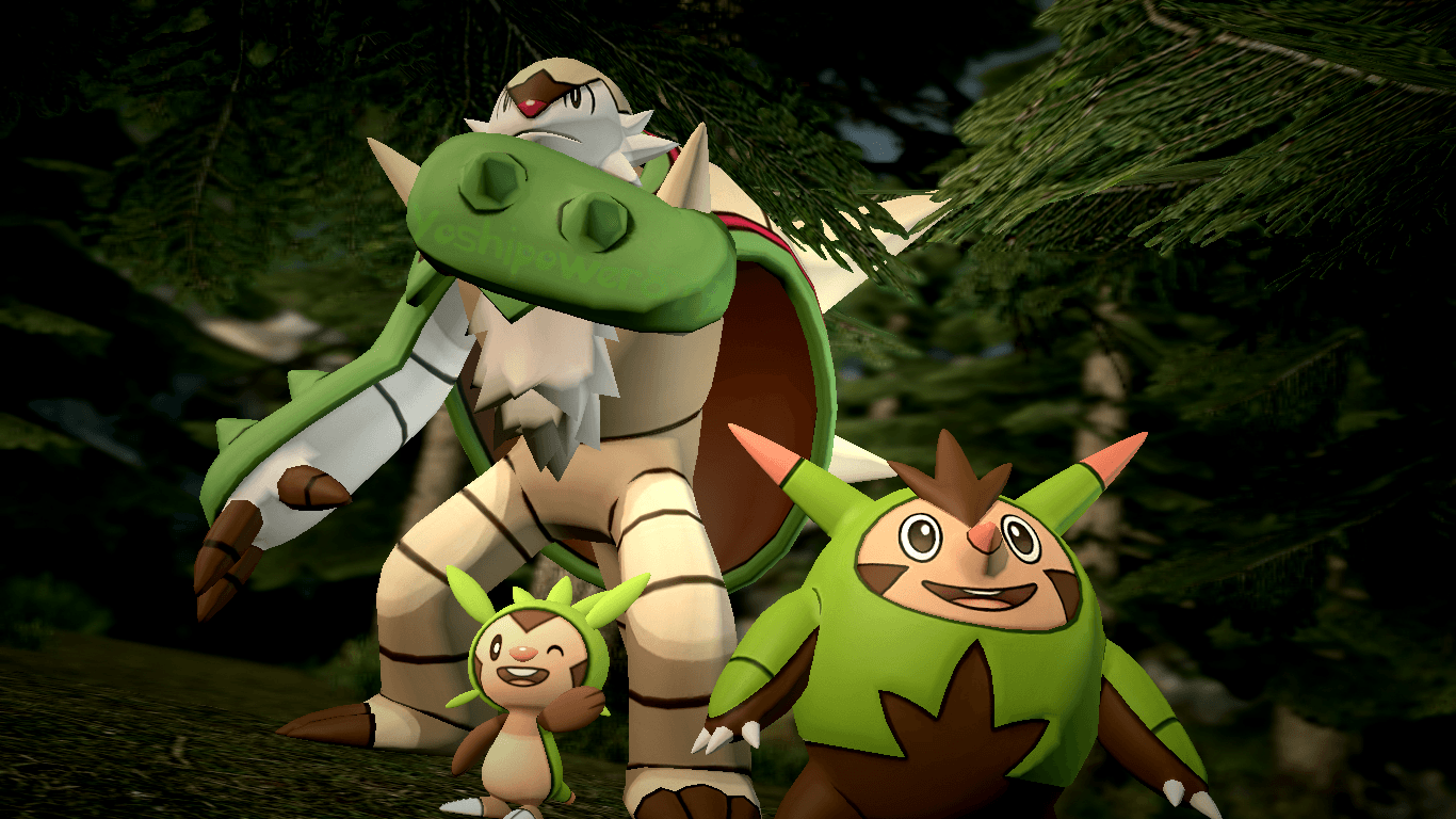 Chespin, Quilladin and Chesnaught by yoshipower879 on DeviantArt