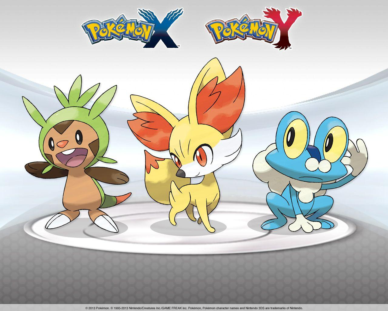 Image - Chespin-Fennekin-Froakie-X-and-Y 1280x1024.jpg | Wallpapers ...
