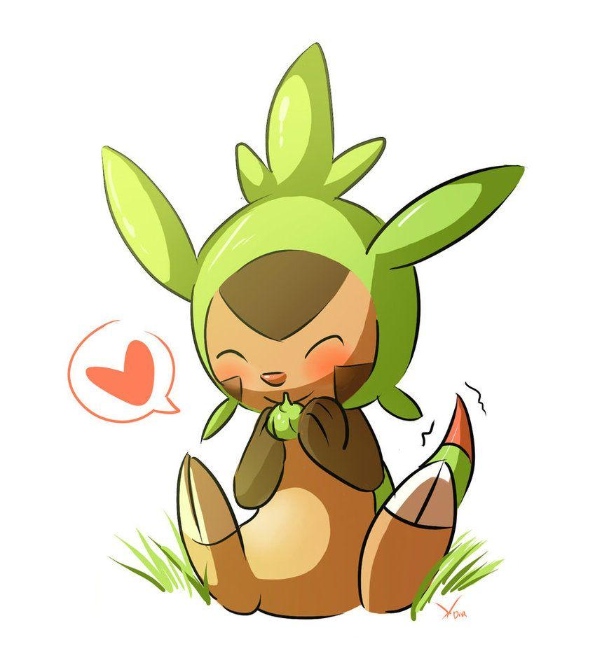 Chespin by deedledove on DeviantArt