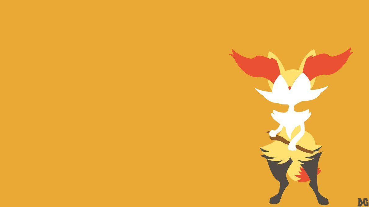 Braixen Minimalistic Wallpaper by DGenr on DeviantArt
