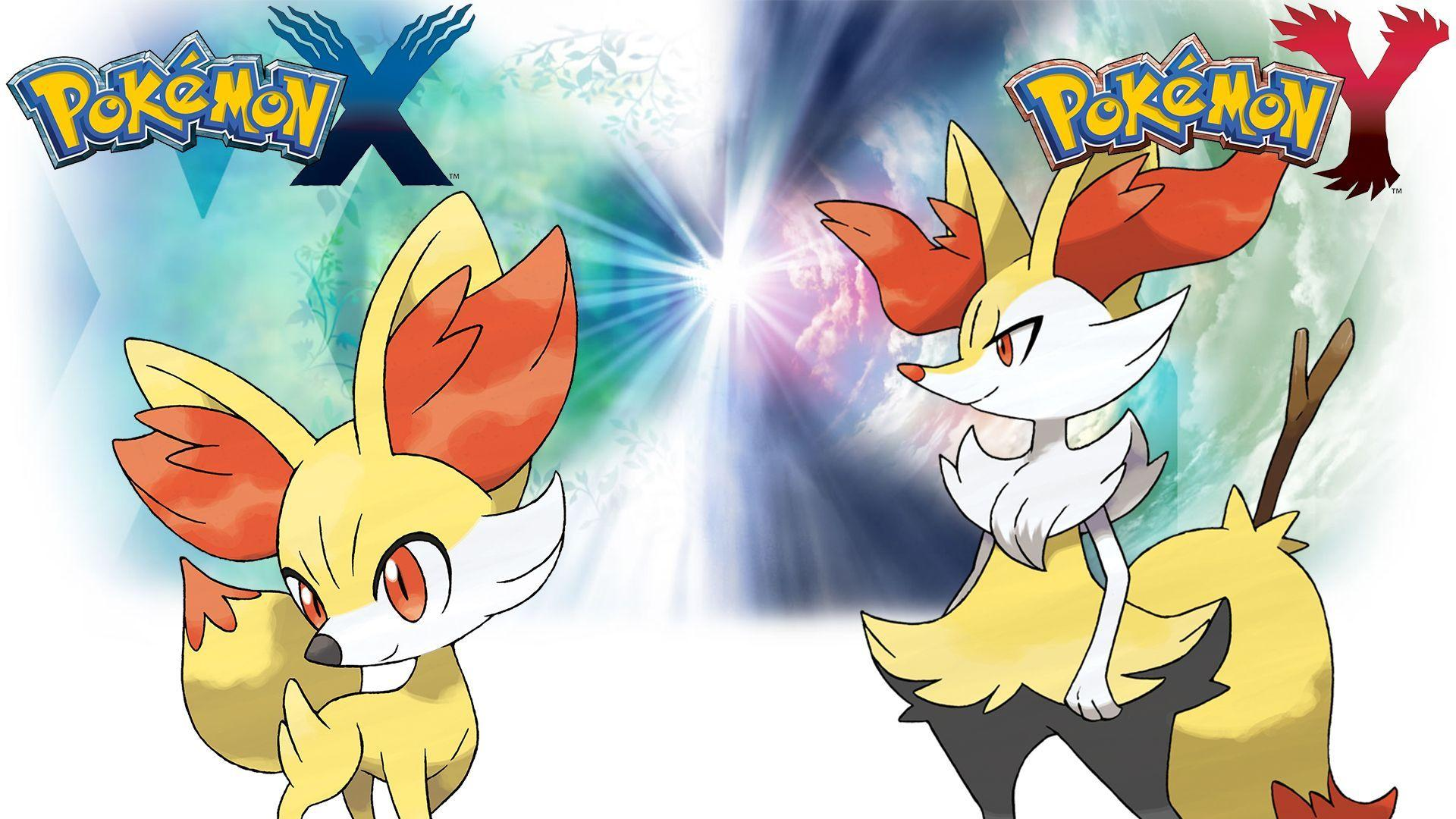 Pokemon X Y - Wallpaper - Fennekin and Braixen by Thelimomon ...
