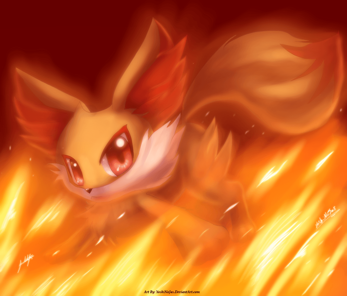 Fennekin by Bukoya on DeviantArt Fennekin Wallpaper Cute