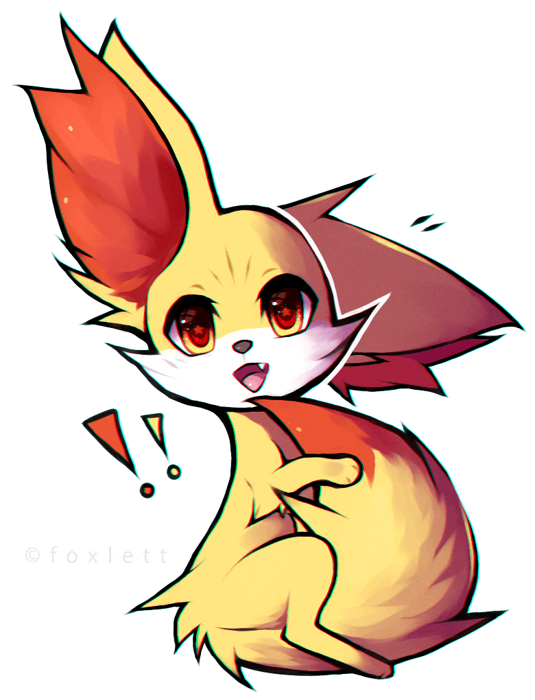 Fennekin drawing ~ Frames ~ Illustrations ~ HD images ~ Photo ...