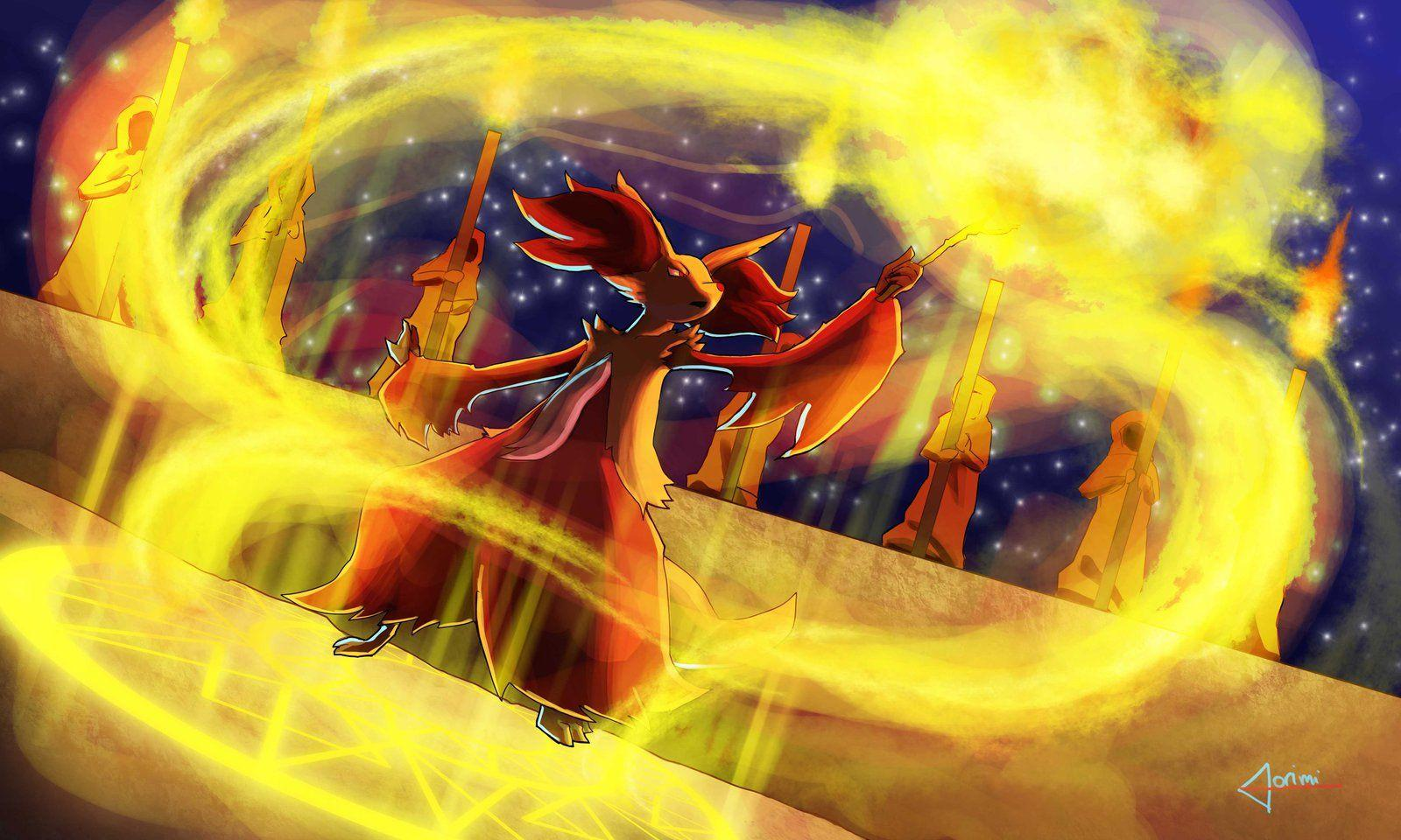 Delphox fielded by dorimi
