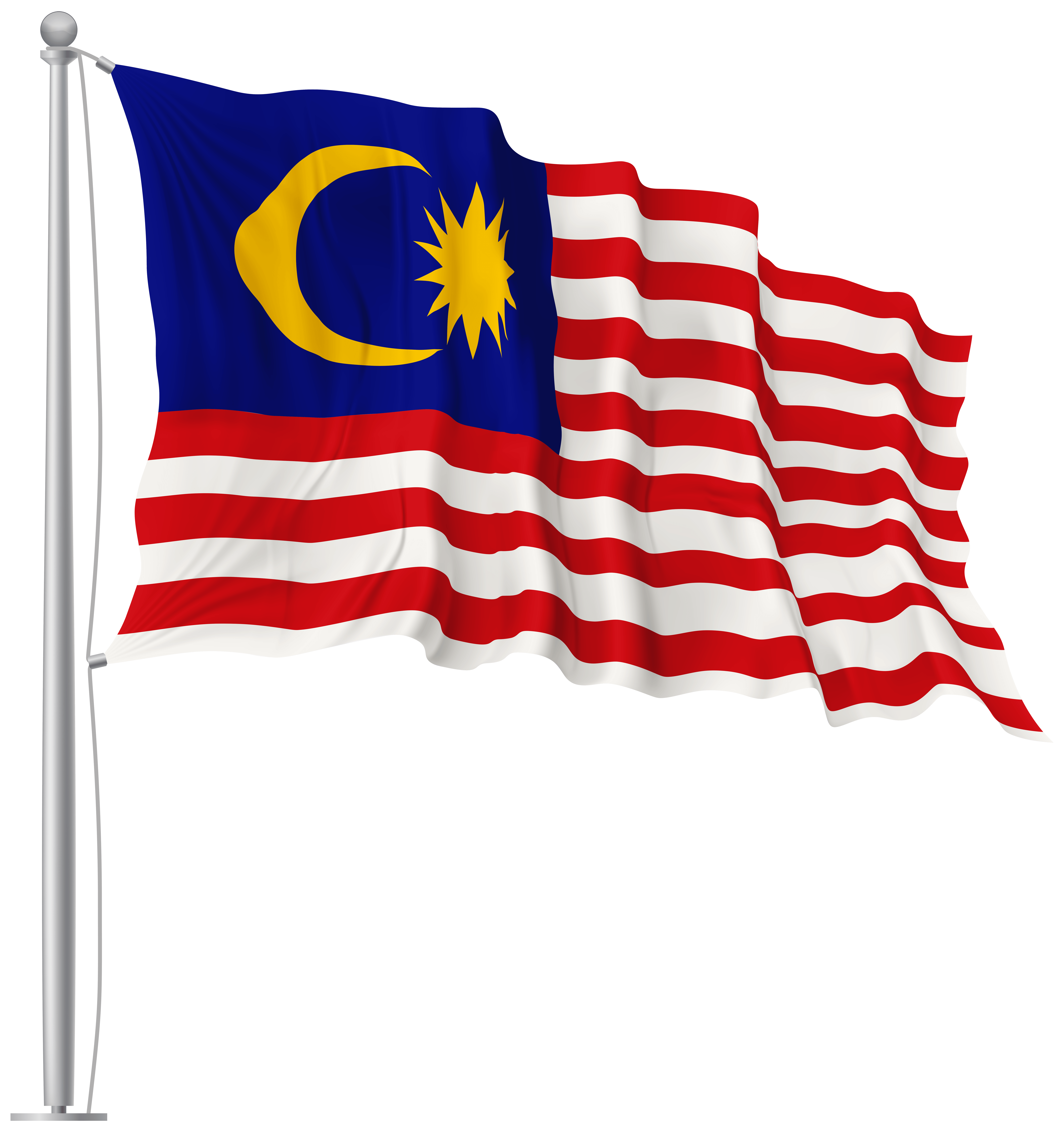 Malaysia Waving Flag PNG Image | Gallery Yopriceville - High ...