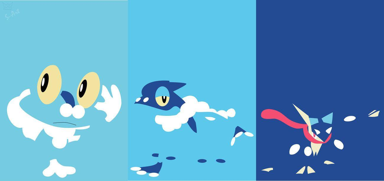 Froakie evolutionline by S