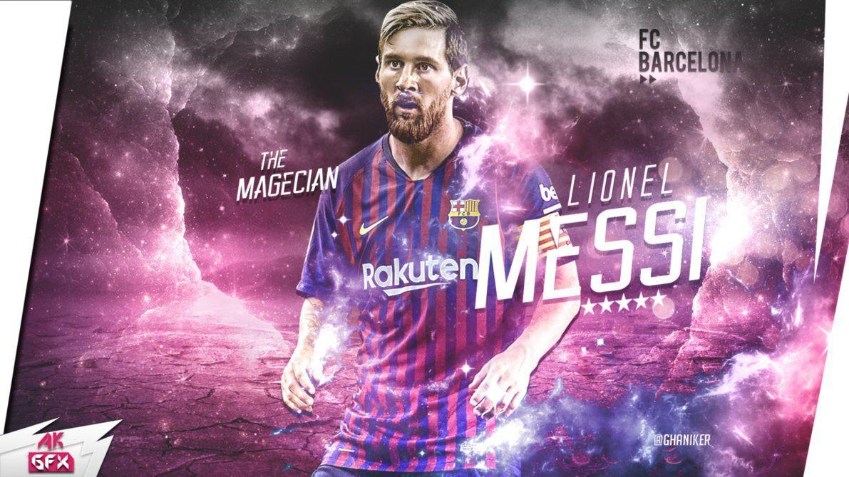 Lionel Messi Desktop wallpaper 2018/19 by Ghanibvb on DeviantArt