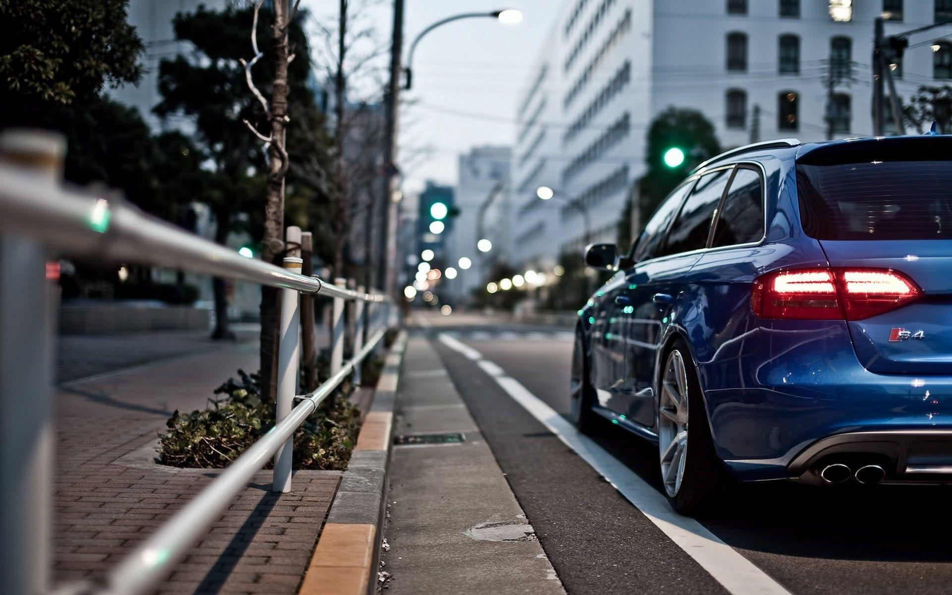 England, cars, Audi S4, cities, street :: Wallpapers