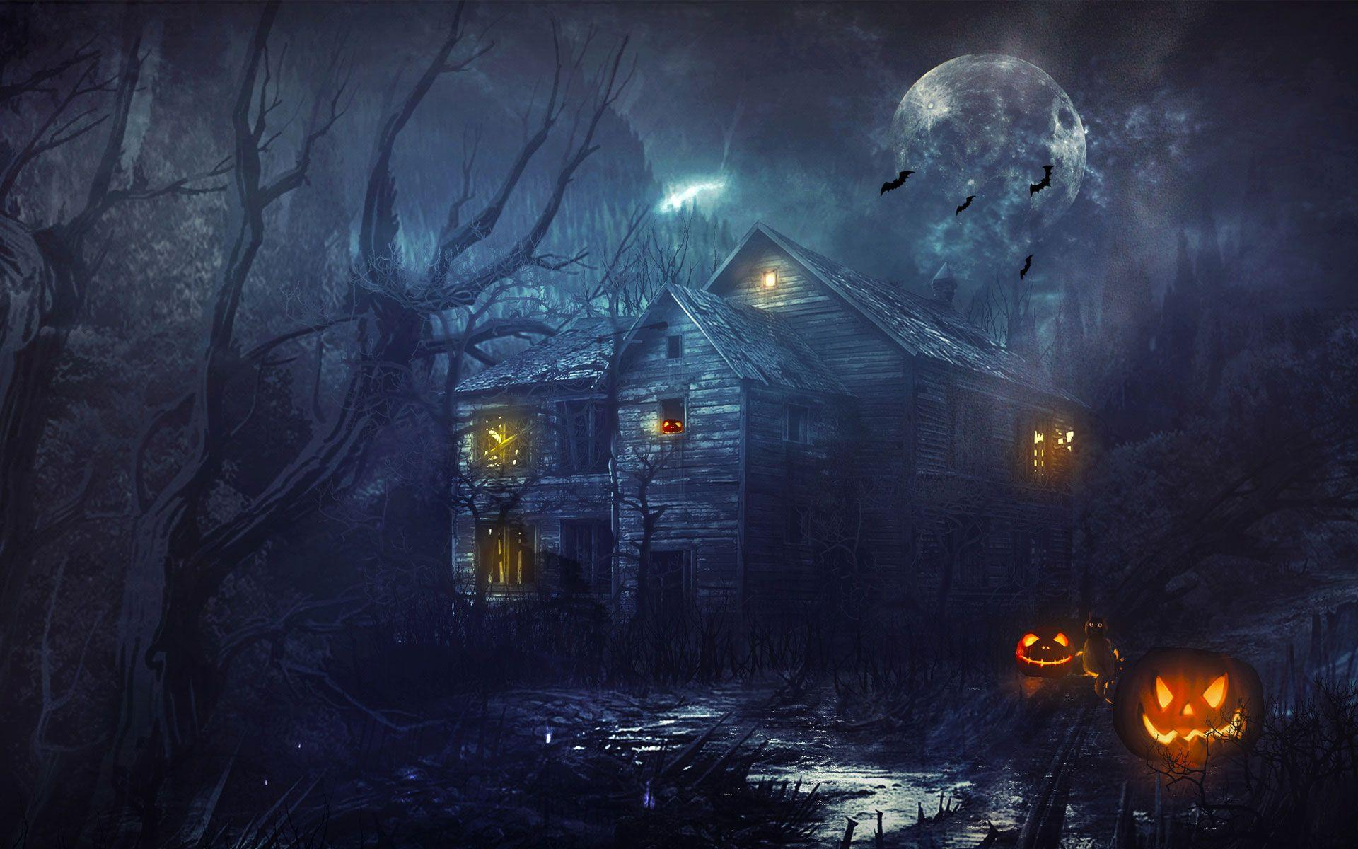 50+ Scary Halloween 2018 HD Wallpapers, Backgrounds, Pumpkins ...